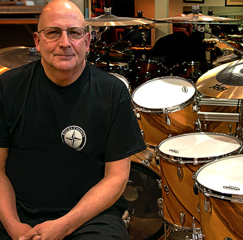 Portrait of Rick Lawton, Drum Teacher, Author, and Recording Artist